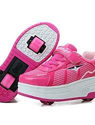 Kids Boys Girls Sneakers Fall / Winter Roller Skate Shoes Sport Outdoor / Athletic Hook & Loop / Black / Blue / Skate Casual Shoes