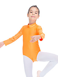 Ballet Leotards Women's Children's Training Nylon Lycra 1 Piece Long Sleeve Leotard