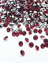 500pcs 70g Red Rhinestone Round Shape Table Party Scatters Confetti Wedding Cofetti Decor