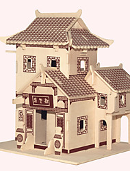 Jigsaw Puzzles Wooden Puzzles Building Blocks DIY Toys  JianGnan Style House A 1 Wood Ivory Model & Building Toy