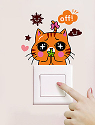 Animals Wall Stickers Plane Wall Stickers Light Switch Stickers,Vinyl Material Home Decoration Wall Decal