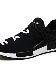 Unisex Athletic Shoes Spring Summer Fall Comfort Light Soles Tulle Outdoor Athletic Casual Low Heel Wedge Heel Black Blue Walking