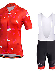 Miloto Cycling Jersey with Bib Shorts Women's Short Sleeves Bike Bib Shorts Shorts Shirt Sweatshirt Jersey Bib Tights Tops Quick Dry