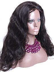 Hand Tied Indian Hair Full Lace Wig Long Body Wave Human Hair Glueless Wig 130 Density Natural Color