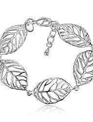 2017 Women Fashion 925 Sterling Silver Leaf Tassels Chain Bracelet Jewelry Gifts