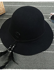Для женщин Для женщин Винтаж Широкополая шляпа Шляпа от солнца,Трикотаж,Зима