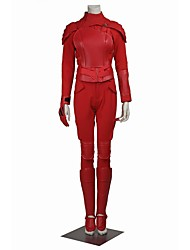 Costumes de Cosplay Pour Halloween Costume de Soirée Bal Masqué Superhéros Cosplay Cosplay de Film Rouge Couleur PleineManteau Pantalon