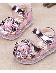 Girl's Sandals Comfort Leather Outdoor Casual Athletic Pink Gold Running