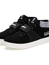 Da donna-Sneakers-Casual-pattini delle coppie-Piatto-Scamosciato-Nero Blu Grigio