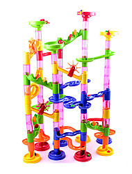 Track Marble Run Blocks DIY Construction Race Deluxe Toy 105pcs - COLORMIX