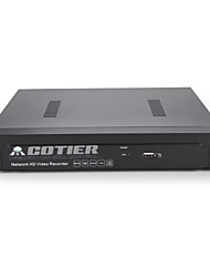 cotier® 4 canales 1U poe NVR 1080p / 1 canal 1 canal VGA + HDMI / ONVIF / NVR N4 / 1U-poe