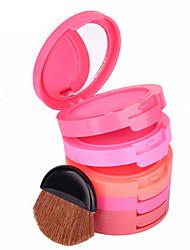 5 Blush Pó Gloss Colorido Longa Duração Natural Rosto