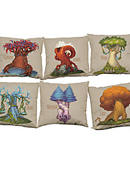 Set of 6 Novelty constellation pattern  Linen Pillowcase Sofa Home Decor Cushion Cover