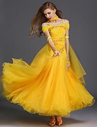 Danse de Salon Robes Femme Entraînement Elasthanne Tulle Sans manche