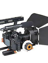 YELANGU Popular DSLR Camera Cage Shoulder Mount Rig Kit C500 Contain Follow Focus Matte Box Support Universal Cameras