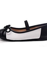 Girl's Flats Comfort PU Casual Black/White