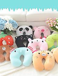 1Pcs  30Cm*28Cm  Comfortable Multi-Color Cartoon Animal U Shaped Travel Neck Pillow Cotton Pillows Support Head Rest Cushion   Random  Color
