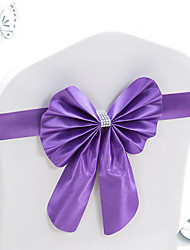 10Pcs Stretch Bowknots Chair Sashes For Wedding Chairs Back Decorations Elastic Bows For Hotel Chair Cover Decorative Bands