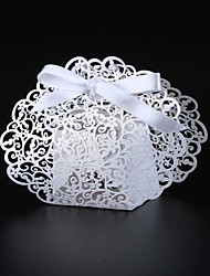 50pcs/lots Laser cut cut lace wedding favor box candy box party gift box
