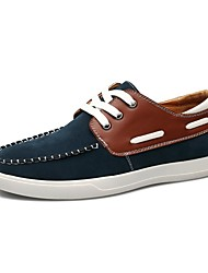 Men's Boat Shoes/Fashion Style/New/Comfort/Suede/Casual/Flat Heel/Lace-up/Black/ Blue/Brown/Walking