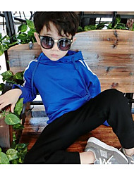 Boy Casual/Daily Solid Hoodie & Sweatshirt,Cotton Winter Spring Fall Long Sleeve Long