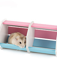 Rodents Cages Toy Tunnel Foldable Plastic Multicolor