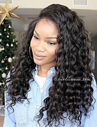 vrac vague 360 perruques brazilian cheveux vierge perruques de dentelle 180% densité de 100% cheveux humains perruques perruques