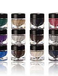 12Pcs/Set Eyeshadow Mineral Metallic Gloss Color Palette Shimmer Shadow Makeup New Fashion Colorful Shimmer Eyeshadow Powder