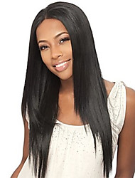 Long Straight Glueless Lace Front Human Hair Wigs Brazilian Virgin Hair With Baby Hair For Women