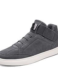 Men's Sneakers Spring Summer Fall Winter Comfort Fabric Outdoor Office & Career Casual Athletic Hook & Loop Black Blue Gray