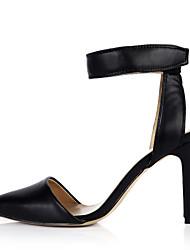 Women's Heels Summer Comfort PU Office & Career Party & Evening Dress Stiletto Heel Black Skin