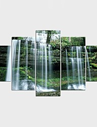 Stretched Canvas Print Landscape Floral/Botanical Classic PastoralFive Panels Canvas Any Shape Print Wall Decor For Home Decoration