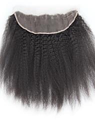 8a fecho frontal virgem yaki stright rendas 13x4 malaio frontais cheia do laço com fecho frontal de cabelo yaki virgem do cabelo humano