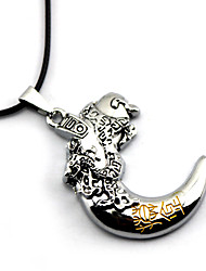 Inspired by Cosplay Time Raiders Dragon Anime Cosplay Accessories Necklace Silver Alloy Male