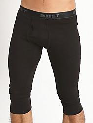 Homme Sportif Couleur Pleine Sous-vêtements Longs-Coton