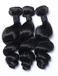 Peruvian Remy Hair Weaves Unprocessed Human Hair 3pieces Loose Wave Hair Extension