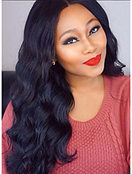 Hot Selling Mongolian Virgin Human Hair Body Wave Lace Front Wig with Natural Hairline