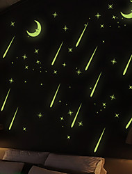 Fluorescent Light Wall Stick Ceiling The Bedroom Of Children Room  Background Cartoon Luminous Wall Stickers