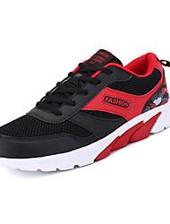 Femme-Décontracté Sport-Noir Bleu Rose Rouge Gris-Talon Plat-Confort-Chaussures d'Athlétisme-Polyuréthane