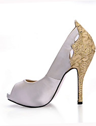 Women's Heels Summer Fall Comfort Silk Wedding Party & Evening Dress Stiletto Heel Ivory