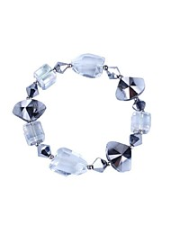 Women's Chain Bracelet Crystal Glass Fashion Jewelry Silver Jewelry 1pc