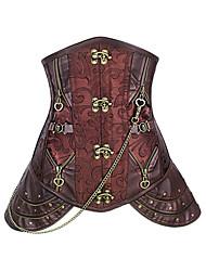 Vrouw Onderbuste korset / Grote maten Nachtkleding Katoen / Nylon / Satijn / Spandex / Modal Bruin Vrouwen