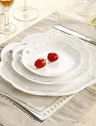 1Pc A Large Hollowed Butterfly Disc Disc Fruit Cake Relief Ceramic Western-Style Food Inventory Center Plate Disk  Suit