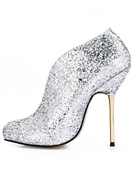 Women's Boots Spring Fall Comfort Synthetic Wedding Party & Evening Dress Stiletto Heel Silver