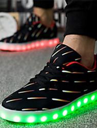 Черный-Для девочек-Для прогулок Повседневный Для занятий спортом-Свиная кожа-На плоской подошве-Удобная обувь Оригинальная обувь-Кеды