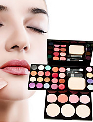 1Pcs Make-Up Box Of Color Plate Of Makeup Set 24 Color Eye Shadow 8 Color Lip Gloss 4 Color Blush 3 Powdery Cake