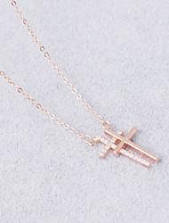 Colliers Tendance Sans pierre Pendentif de collier Bijoux Quotidien Décontracté Regalos de Navidad Forme de Croix Pendant Argent sterling