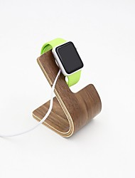 Apple Watch Stand TELESIN Pro Natural Wooden Charging Dock / Station / Platform Iwatch Charging Stand Bracket Docking Station Holder (Light Walnut)