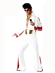 Inspired by CosplayElvis Now Deluxe Aloha Elvis Costume For Party  Suits Solid White Long Sleeve Top Pants Belt For Male