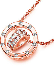Ladies Fashion Necklace Pendant New Rose Gold heart-shaped bone chain 0364# Every dog has his day